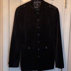 H&M Black Velveteen Blazer